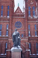 Smithson Statue After the Snow Smithsonian Castle Washington DC