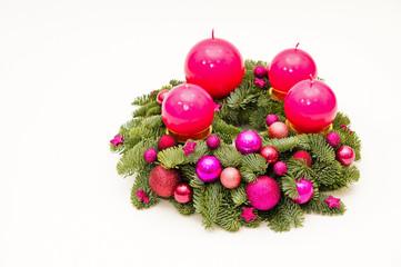 Purple advent wreath