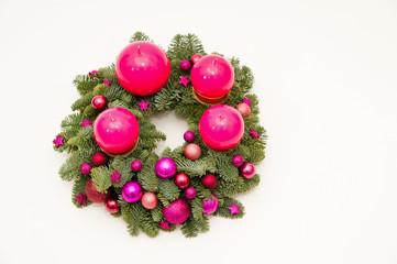 Violet advent wreath