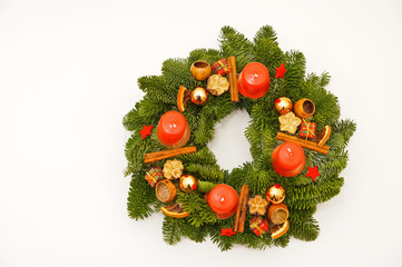 Advent wreath from above