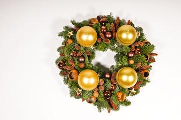 Yellow advent wreath