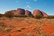 Leinwanddruck Bild - panoramic view of Kata Tjuta, australian red center