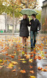 Dating couple in Paris at rain