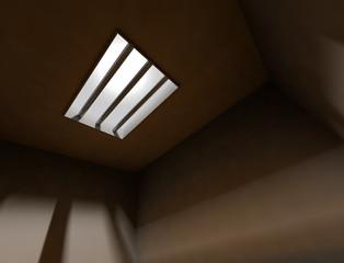 ventana en interior de una celda