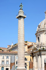 Traian column in Rome, Italy