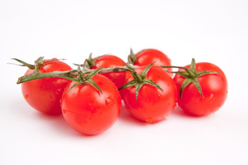 The ripened fruits of a tomato