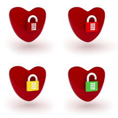 Heart with lock