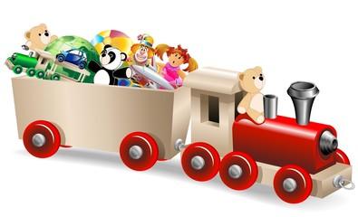 Trenino con Giocattoli-Train Toys-Vector