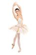 A full length portrait of a ballerina dancer