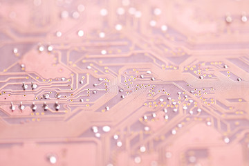 A close up of a computer circuit