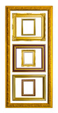 ancient style golden wood photo image frame isolated