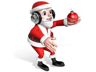 3d santa and crystal ball