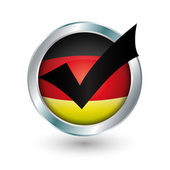 Deutschland Button Haken