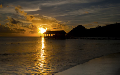 Sunset in St Lucia