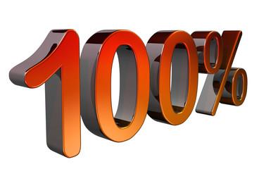 Metallic 100% 3D symbol