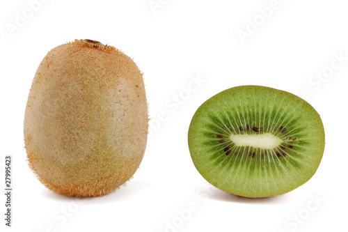 One half of kiwi and one whole kiwi