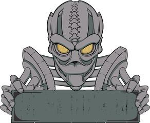 Cyborg banner template