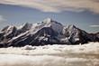 Mont-Blanc entouré d'une mer de nuage