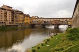 Firenze - Italy - Arno river and Ponte vecchio poster