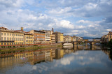 Firenze - Italy - Arno river and Alle Grazie Bridge poster