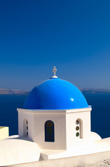 Greek church in Santorini island