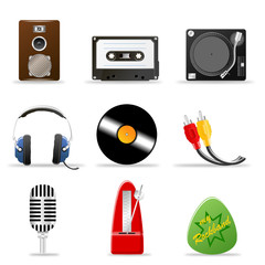 3d Iconset Musik bunt