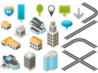 Map toolkit with Isometric Buildings and Roads