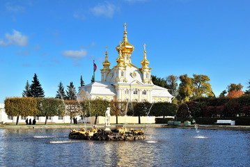 The churche of the Grand Peterhof Palace