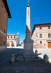 The imposing Palazzo Ducale in Urbino and the cathedral