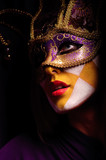 woman in party mask