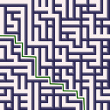 maze solution in green line