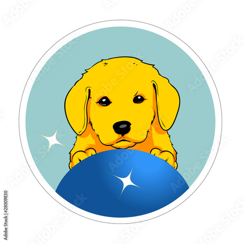 Little dog sticker