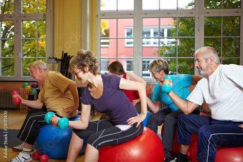 Leinwanddruck Bild Hantelübungen im Fitnesscenter