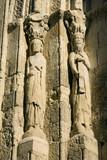 Romanesque statue-column - Church of San Martin, Segovia poster