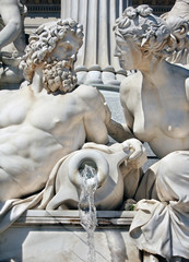 Detail of Athene fountain in Vienna