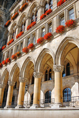 Detail of Town hall in Vienna, Austria