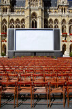 Outdoor cinema in front of town hall in Vienna