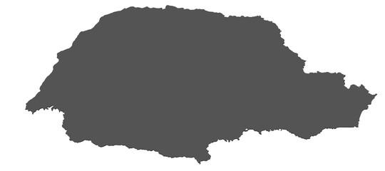 Karte von Parana - Brasilien