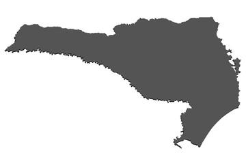 Karte von Santa Catarina - Brasilien