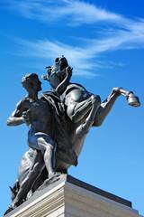 Statue in front of Austrian parliament, Vienna