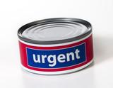 urgent mot en boite prioritaire poster