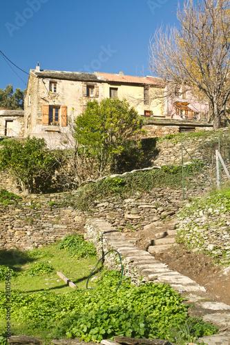Maison de village du cap corse pietracorbara de bolga2b photo libre de dro - Maison de village corse ...