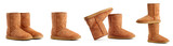 Auburn ugg boots on the white background poster