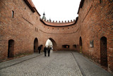 Part of Warsaw Barbican - historic fortification in Poland - 28018001