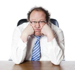 business man entrepreneur fatigué