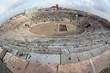 fisheye view of ancient arena of Verona