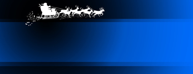 Panorama - Hintergrund - Weihnachtsmann - Rentierschlitten