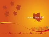 Monthly calendar wallpaper for 2011 - November poster