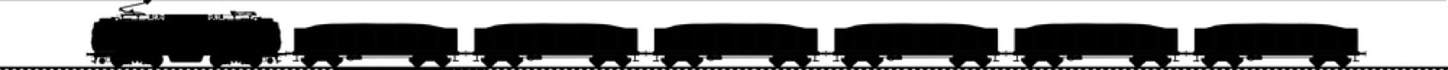 Coal train silhouette vector