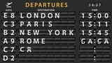 Airport Departures Information Board
